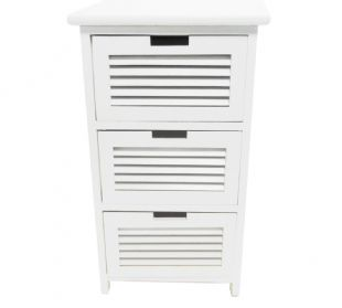 Assembled White 3 Chest of Drawers Bedside Table Bathroom Storage Unit Cabinet